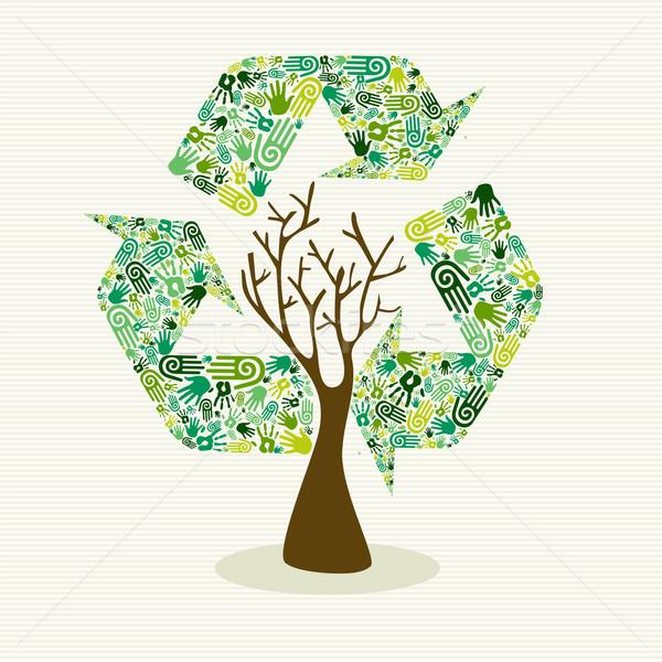 Сток-фото: Устойчивое · развития · стороны · дерево · человека · рук