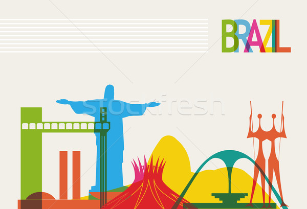 Brazil tourism skyline Stock photo © cienpies