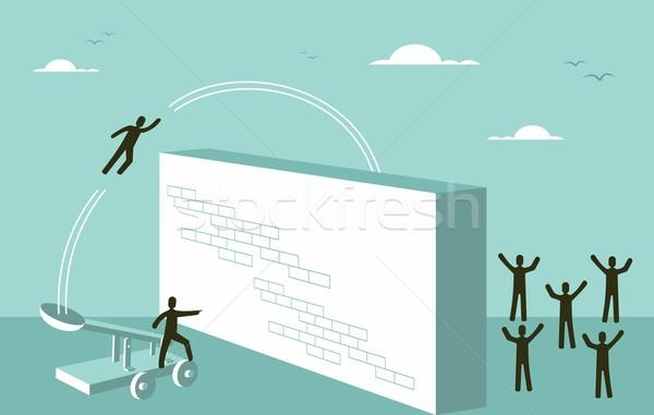 Trabajo en equipo motivación estrategia de negocios éxito plan motivacional Foto stock © cienpies