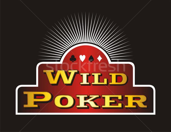ポーカー アイコン カジノ 赤 バナー 黒 ストックフォト © cienpies
