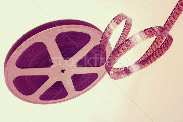 Stock photo: Film strip wheel vintage isolated background