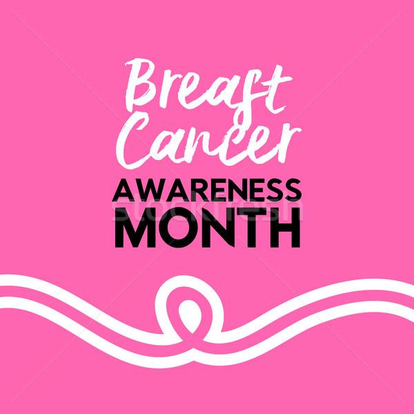 乳癌 認知度 ピンクリボン タイポグラフィ ピンク 文字 ストックフォト © cienpies