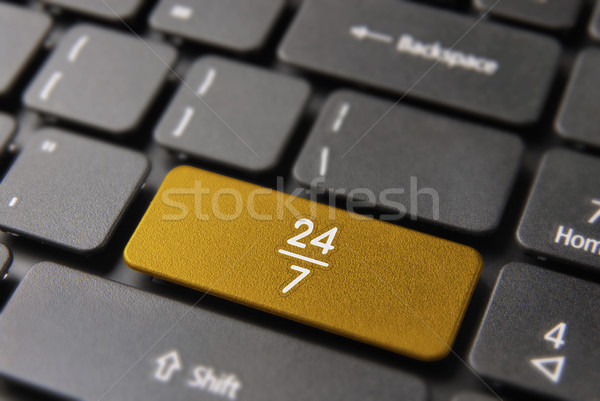 24/7 hour service online in computer key button Stock photo © cienpies