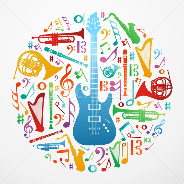 Love for music concept illustration background Stock photo © cienpies
