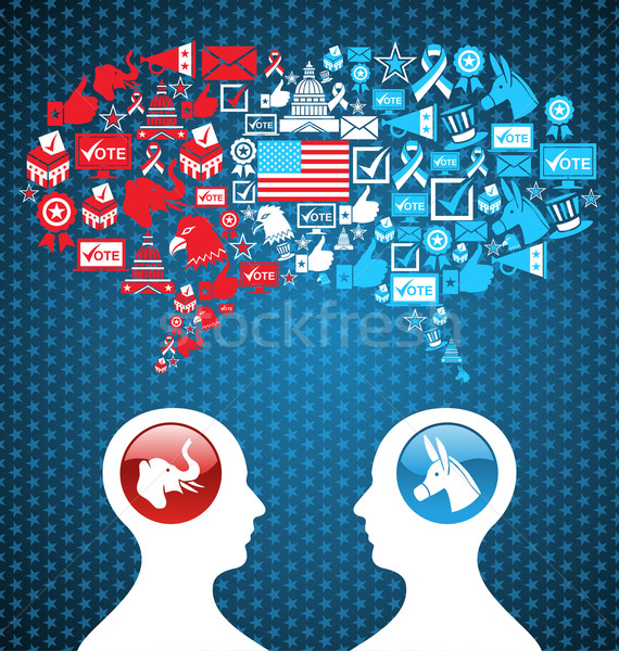 USA political elections social discussion Stock photo © cienpies