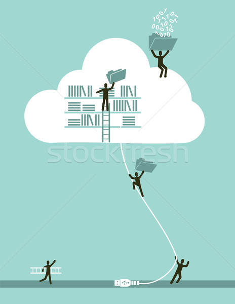 Cloud computing business concept Stock photo © cienpies