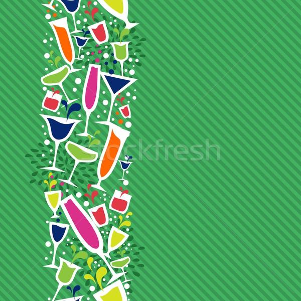 Stock fotó: Koktél · ital · végtelen · minta · színes · üveg · ötletek