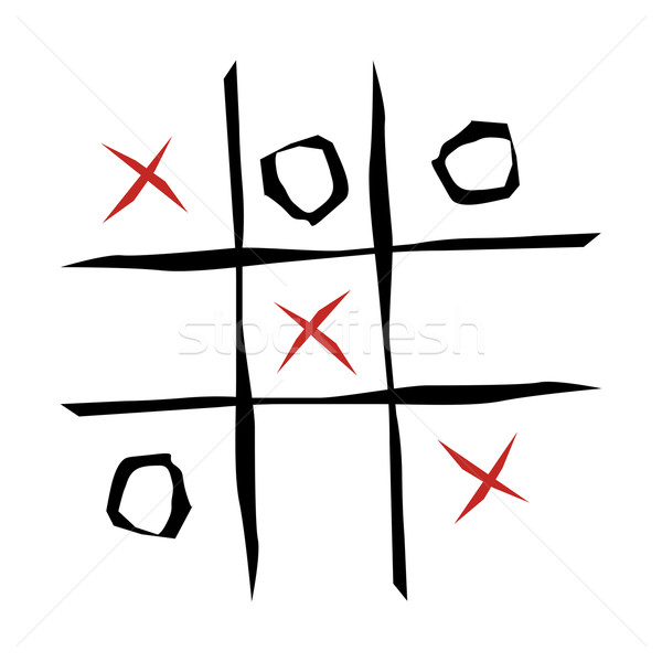 Tic tac toe game  Stock photo © cienpies