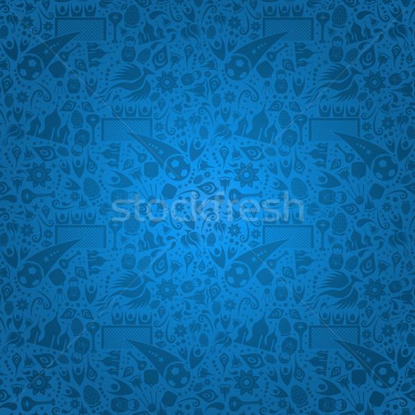 синий Россия русский иконки символ украшение Сток-фото © cienpies