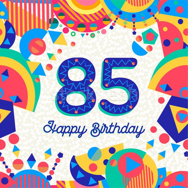 Сток-фото: восемьдесят · пять · год · празднование · дня · рождения · С · Днем · Рождения