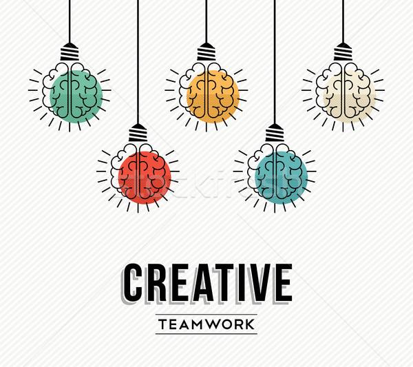 Creative teamwork ideas german design concept Stock photo © cienpies