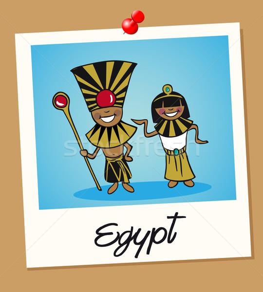 Egipto viaje Polaroid personas egipcio hombre Foto stock © cienpies