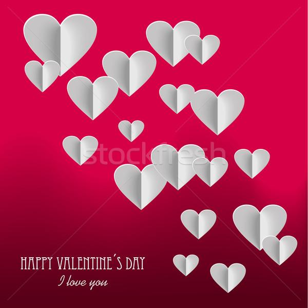 Happy Valentine`s day postcard background Stock photo © cienpies