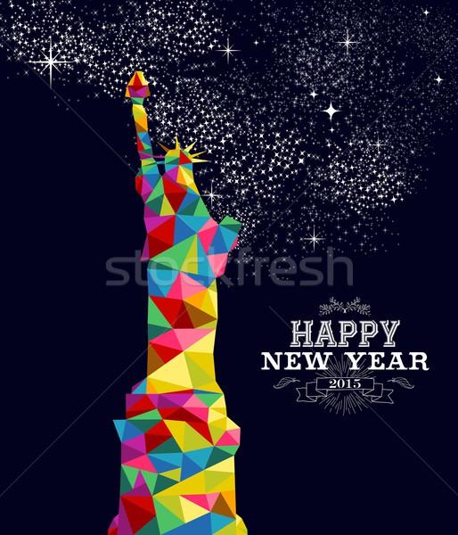 New year 2015 USA poster design Stock photo © cienpies