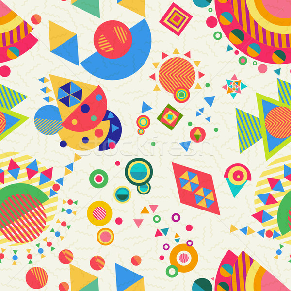 Seamless pattern geometry background colorful Stock photo © cienpies