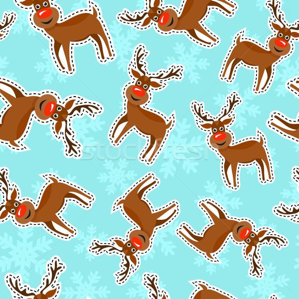 Stok fotoğraf: Noel · ren · geyiği · ikon · model