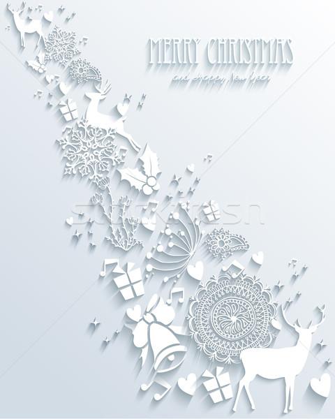 Merry Christmas 3D illustration Stock photo © cienpies