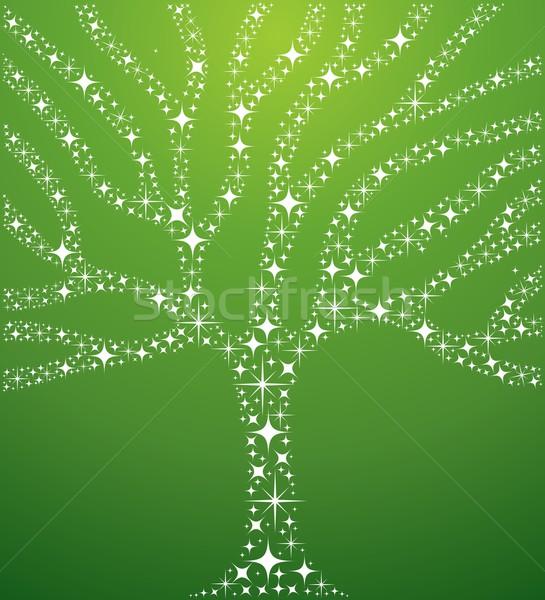 Abstract stars tree illustration Stock photo © cienpies