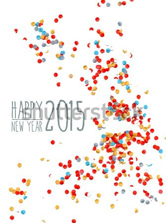 明けましておめでとうございます 2016 紙吹雪 パーティ お祝い テンプレート ストックフォト © cienpies