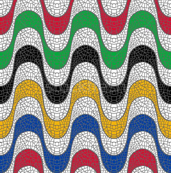 красочный Бразилия мозаика дизайна пляж Сток-фото © cienpies