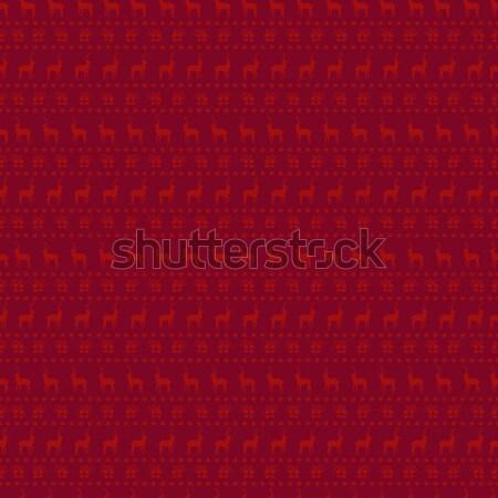 Karácsony piros szarvas firka dekoráció vidám Stock fotó © cienpies