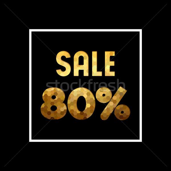 продажи до 80 золото цитировать бизнеса Сток-фото © cienpies