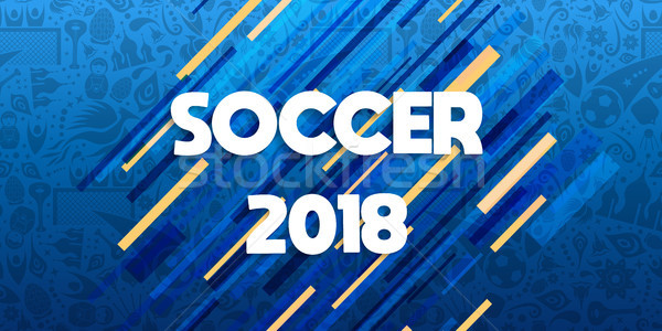 Soccer 2018 web banner for special sport event Stock photo © cienpies