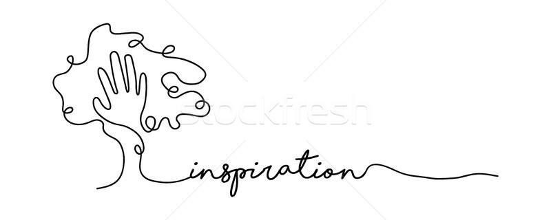 Inspiráció vonal háló szalag illusztráció kéz Stock fotó © cienpies