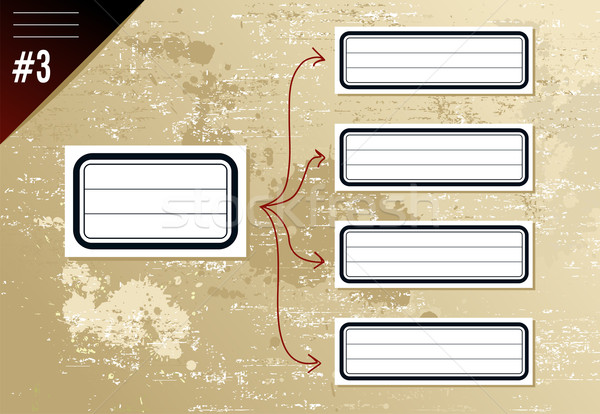 Vintage gerarchia diagramma frecce retro etichette Foto d'archivio © cienpies