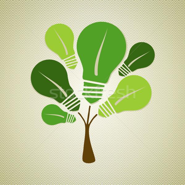 Green life tree illustration Stock photo © cienpies