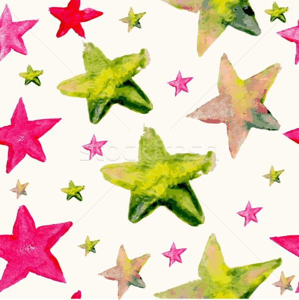 Watercolor star seamless pattern Stock photo © cienpies