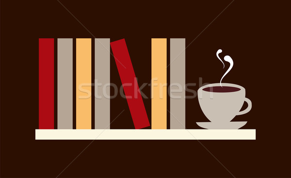 Books and coffee Stock photo © cienpies