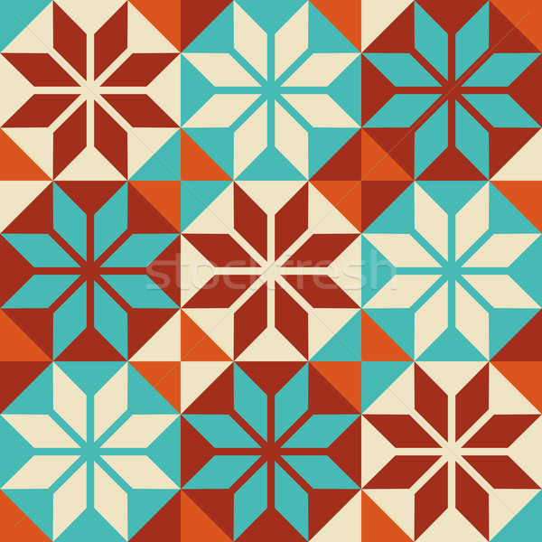 Mosaic tile colorful pattern in patchwork style Stock photo © cienpies
