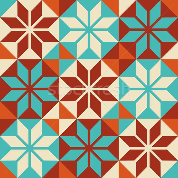 Mosaïque carrelage coloré modèle patchwork style Photo stock © cienpies