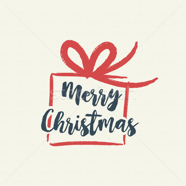 Christmas text quote calligraphy gift illustration Stock photo © cienpies