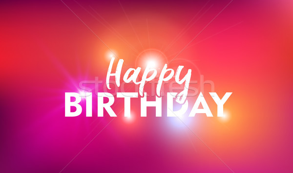 Happy Birthday Card Background With Text Quote Vector Illustration