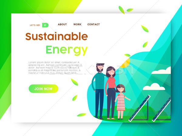 Eco friendly campaign web landing page template Stock photo © cienpies