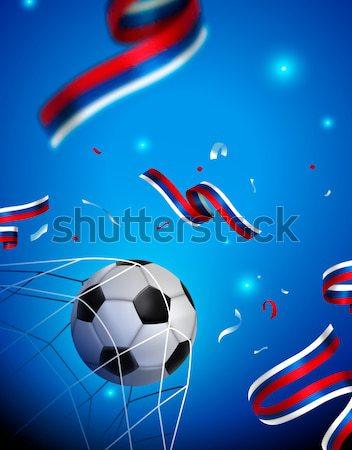 Futebol teia bandeira especial jogo de futebol futebol Foto stock © cienpies