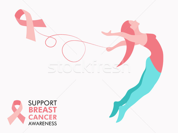 Breast Cancer Awareness woman concept for support Stock photo © cienpies