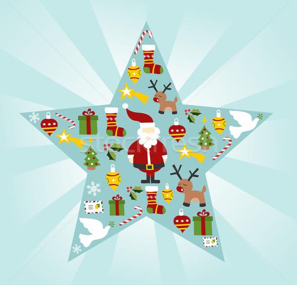 Photo stock: Noël · star · forme · vecteur · fichier