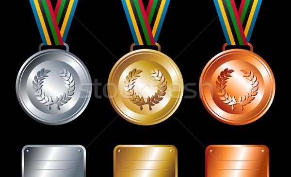 金 銀 青銅 スポーツ リボン ストックフォト © cienpies