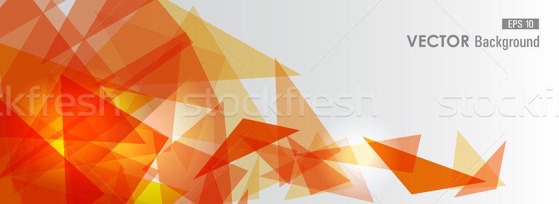 оранжевый геометрический прозрачность модный прозрачный аннотация Сток-фото © cienpies