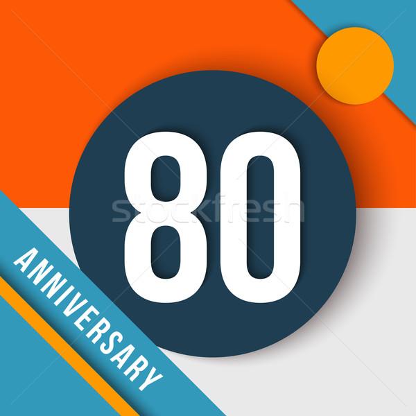 до 80 год летию материальных дизайна восемьдесят Сток-фото © cienpies