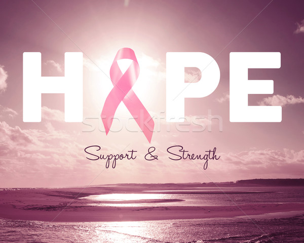 Pink hope breast cancer awareness background Stock photo © cienpies