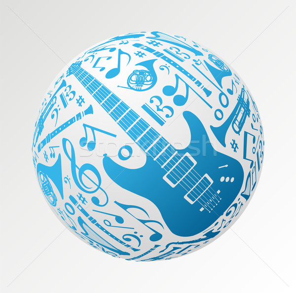 Music instruments in bauble shape Stock photo © cienpies