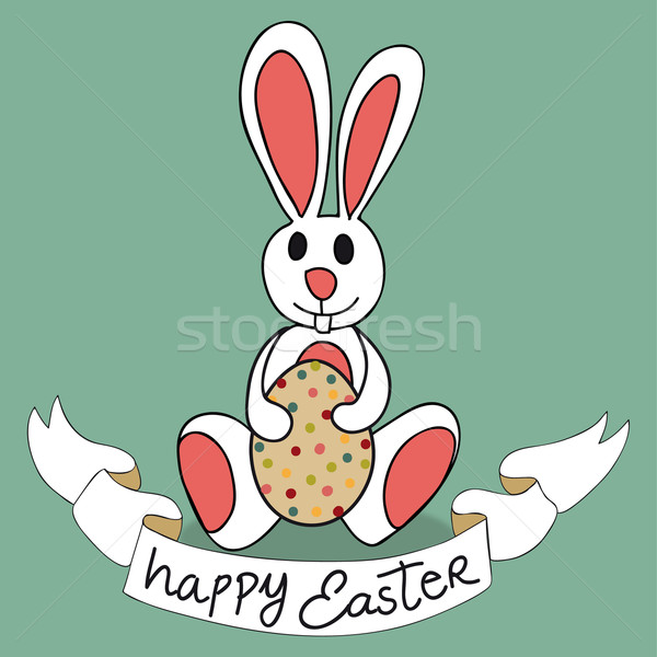 Stock photo: Happy Easter bunny