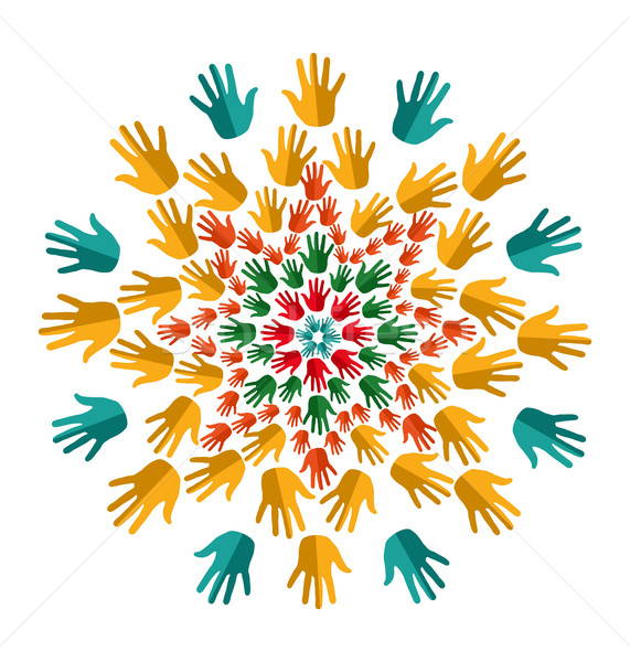 India yoga isolated mandala Stock photo © cienpies