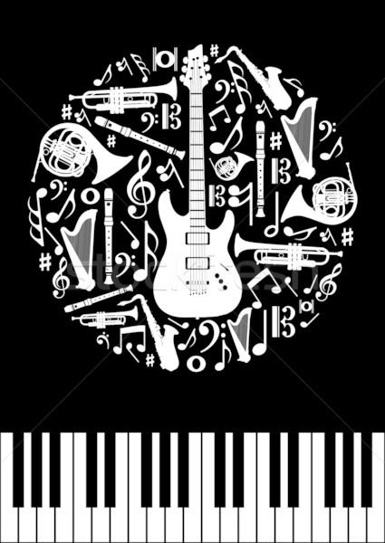 Music concept circle Stock photo © cienpies