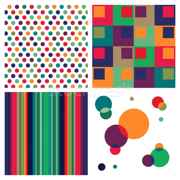 Retro colorful pattern combo.  Stock photo © cienpies