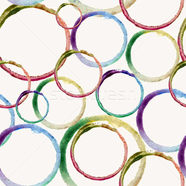Watercolor circle stain pattern Stock photo © cienpies